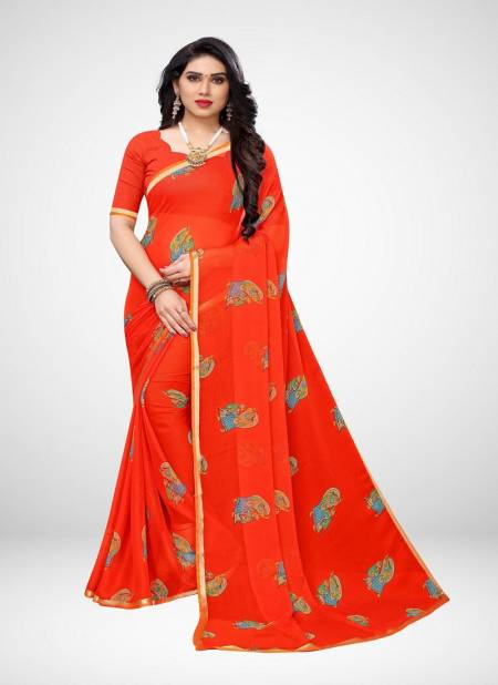 Queen 1 Exclusive Collection Of Daily Wear Casual Wear Chiffon Printed Saree