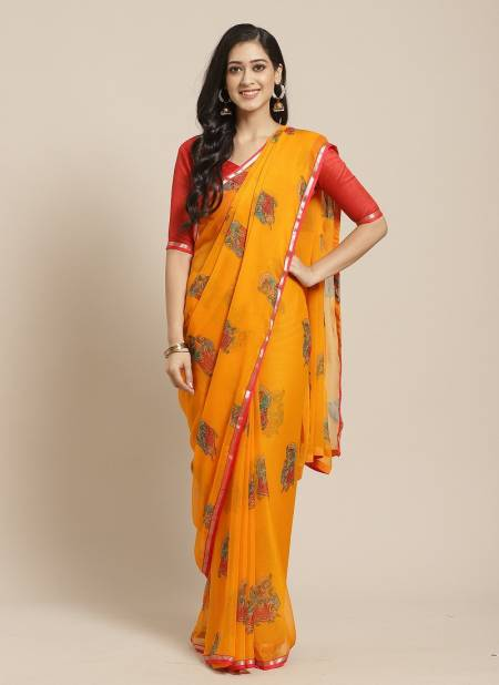 Queen 2 Latest daily Wear Casual Wear Chiffon Printed Saree Collection