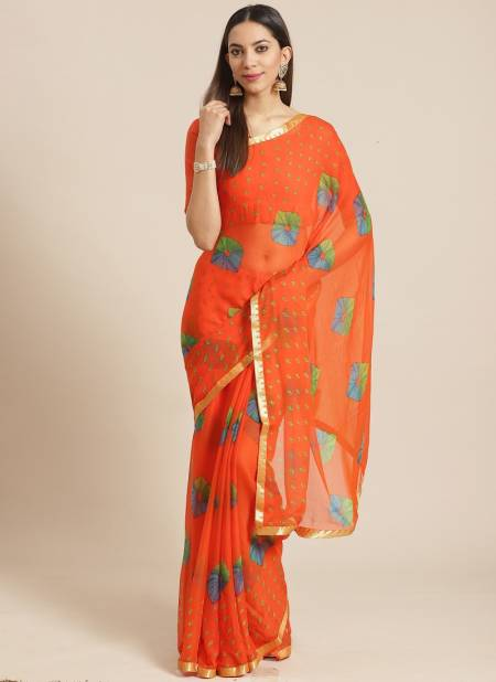 Queen 6 Latest Fancy Casual Daily Wear Chiffon Printed Sarees Collection