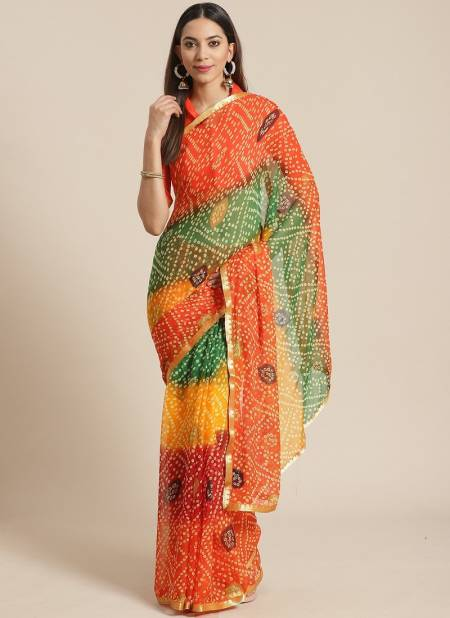 Queen 7 Latest Collection Of Casual Daily Wear Printed Chiffon Saree