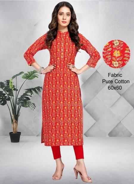 Rajnandini Print 18 Pure Cotton Printed Casual Wear Straight Cut Kurti Collection