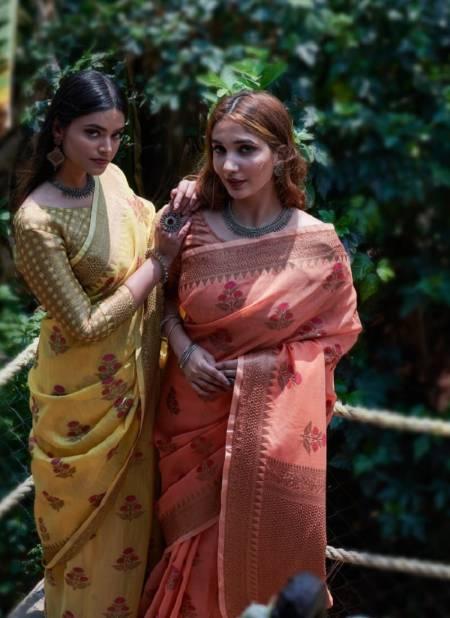 Rajyog Swaruchi Latest Fancy Designer Casual Wear Silk Soft Linen Saree Collection