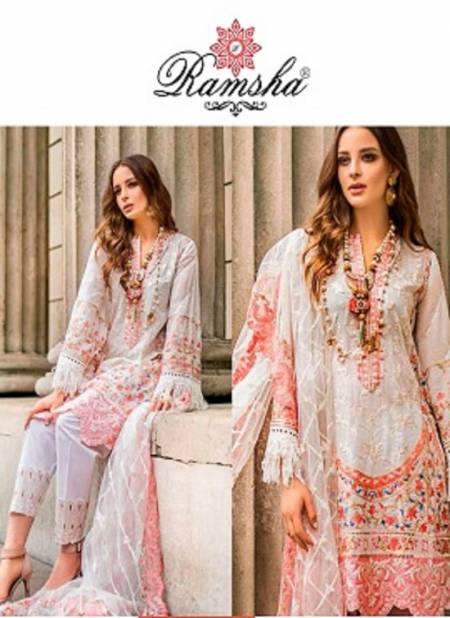 Ramsha R 252 Nx Latest Heavy Festive Wear Fancy Butterfly Net With Embroidery Pakistani Salwar Suits Collection