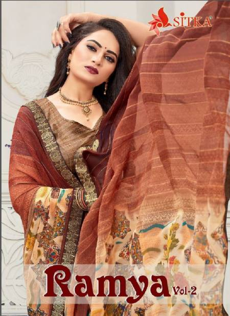 Ramya 2 Latest Fancy Casual Regular Wear Weightless Printed Sarees Collection
