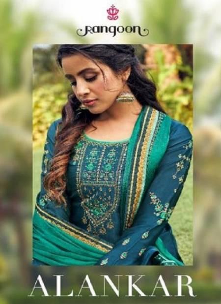 Rangoon Alankar Fancy Designer Heavy Festive Wear Satin Georgette With slive With Four Side Work Lace Dupatta Work Salwar suit Collection