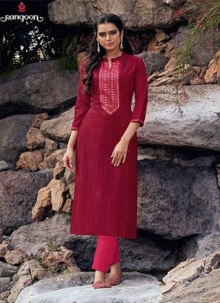 Rangoon Light Line 5 Latest Fancy Designer Ethnic Wear Lining Silk With Work Long Kurti Collection