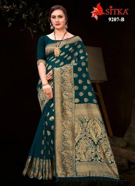 Raveena 9207 Latest Fancy Designer Casual Wear Cotton Silk Sarees Collection