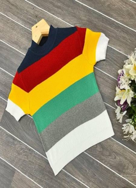 Rembo Crop Stylish Colorful Western Designer Wollen Ladies Top Collection