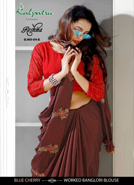 Reshma Bluecherry Latest Designer Party Wear Embroidery Work Saree Collection