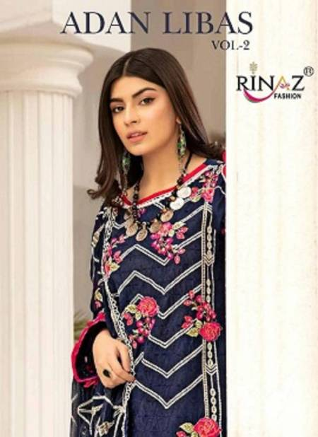Rinaz Adan Libas 2 Latest Fancy Designer Festive Wear Heavy Embroidery Pakistani Salwar Suits Collection
