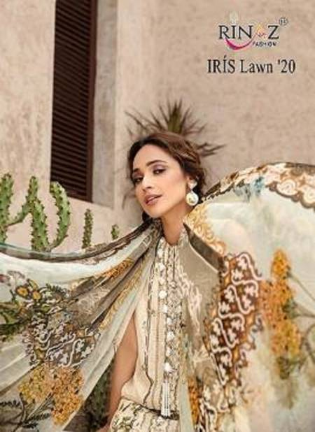 Rinaz Iris Lwn 2020 Jam Silk Digital Print with self Embroidery Work Top With Cotton Dupatta and Bottom Pakistani Suits Collection