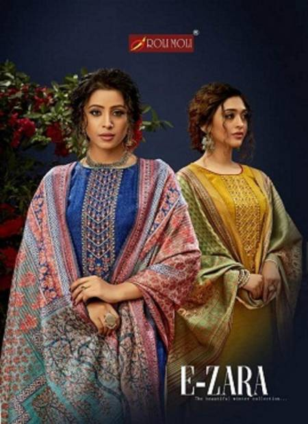 Roli Moli E Zara Pure Pashmina Latest fancy Casual Wear Jacquard Swarovski Diamond Work Designer Dress Material Collection