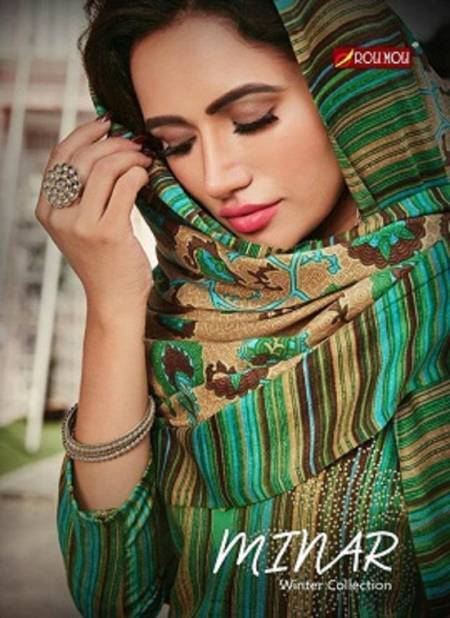 Roli Moli Minar Designer Pure Pashmina Jacquard  Print With Fancy Embroidery Work Dress Material Collection