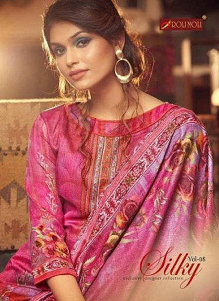 Roli Moli Silky 8 Latest Exclusive Collection Pure Pashmina Jacquard Print With Exclusive SIROSKEY Diamond Work Designer Dress Material