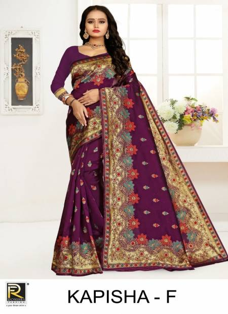 Ronisha Kapisha Latest Designer Premium Silk Fancy Casual Wear Saree Collection