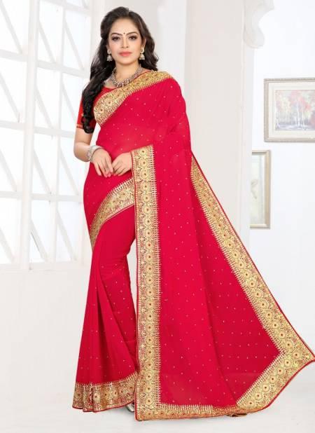 Ronisha Raabta Festive Wear Georgette Fancy Designer Saree Collection