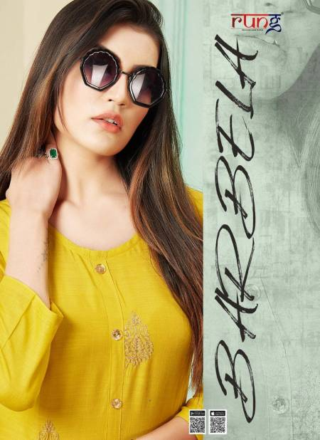 Rung Barbela Latest Designer Fancy Rayon Casual Wear Designer Kurtis Collection