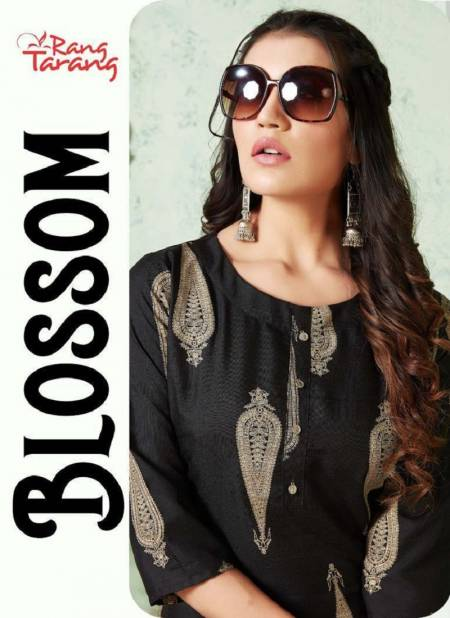 Rung Tarang Blossom Fancy Designer Casual Wear Kurtis With Bottom Collection