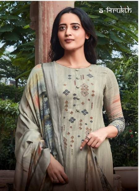 S-NIRUKTH HEER HIT DESIGNS Latest Fancy Festive Wear Cotton Satin With Embroidery Salwar Suit Collection