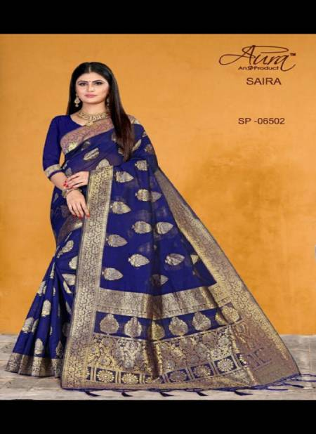 Saira Aura New Designer Cotton Silk Festival Wear Saree Collection