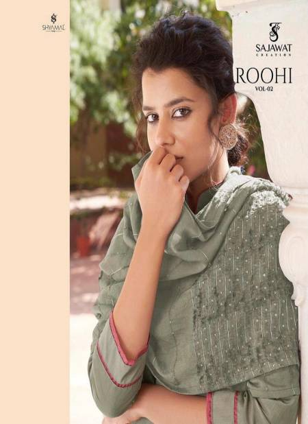 SAJAWAT  ROOHI VOL -02 Latest Heavy Designer Festive Wear Fancy Pyor Modal Viscose Heavy Work Salwar Suit Collection