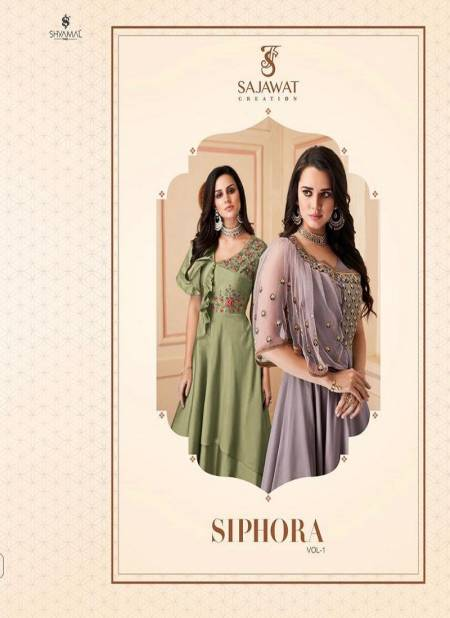 SAJAWAT SIPHORA Latest Wedding Wear Heavy Soft Silk Embroidery Work Full Stich Gown And four side work Dupatta Collection