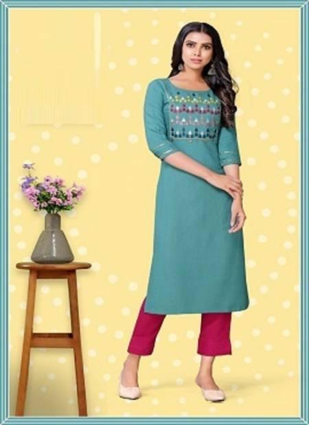 Sakhi 1 Latest Fancy Designer Rayon Ethnic Wear Designer Kurtis Collection