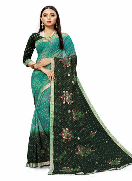 Sangam Daisy Latest Designer Festival Casual Wear Fancy Georgette saree collection