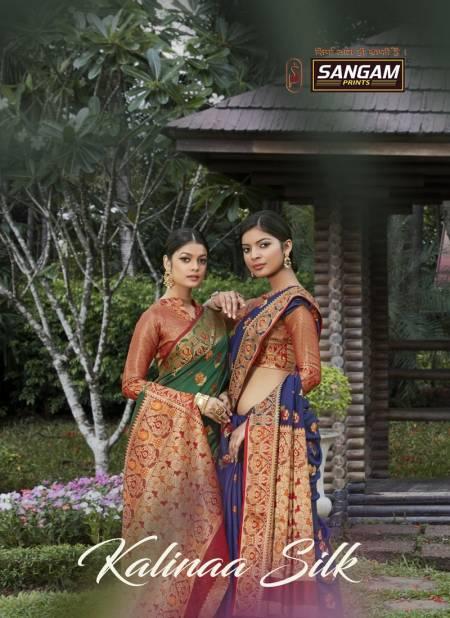 Sangam Kalinaa Silk Latest Fancy Designer Festive Wear Banarasi Silk Sarees Collection