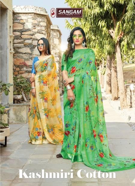 Sangam Kashmiri Cotton Latest Printed Casual Wear Designer Cotton saree Collection