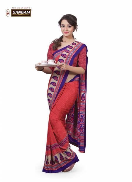 Sangam Kimora vol 1 Printed Uniform Latest Exclusive Pure Linen Casual Wear Saree Collection