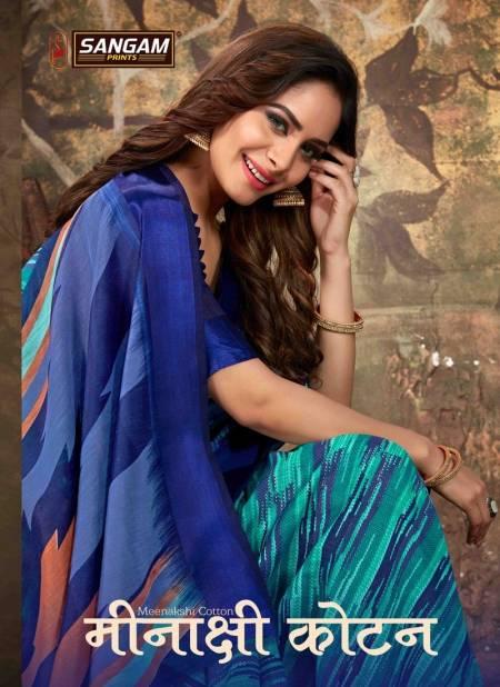 Sangam Minaxi Cotton Latest Daily Wear Printed Pure Cotton Saree Collection