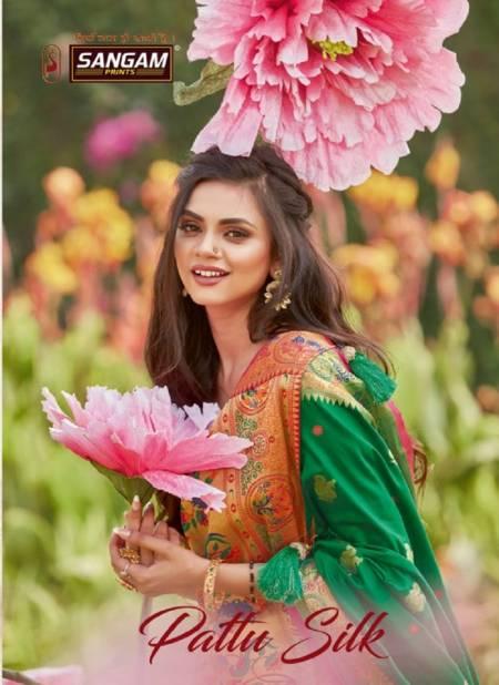 Sangam Pattu Latest Fancy Designer Festive Wear Silk Pure Soft Silk Saree Collection