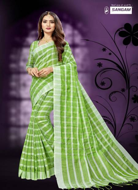 Sangam Red Carpet 2 Latest Fancy Designer Casual Wear Cotton Linen Printed Sarees Collection