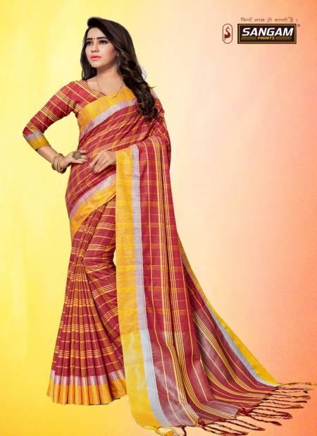 Sangam Red Carpet 3 Latest Fancy Designer Casual Wear Cotton Linen Sarees Collection