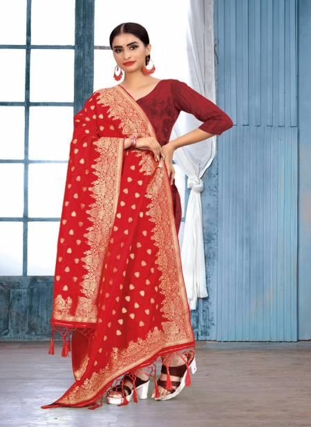 Sangam Silk Banarasi Dupatta 1 Latest Fancy Beautiful Design With Zari Work Dupatta