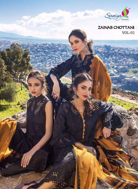 Saniya Zainab Chottani 1 Latest Fancy Designer Casual Wear Pakistani Eid Collection Salwar Kameez