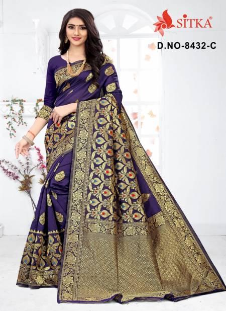 Sargam 8432 Exclusive Handloom Cotton Silk Party Wear Designer Saree Collection