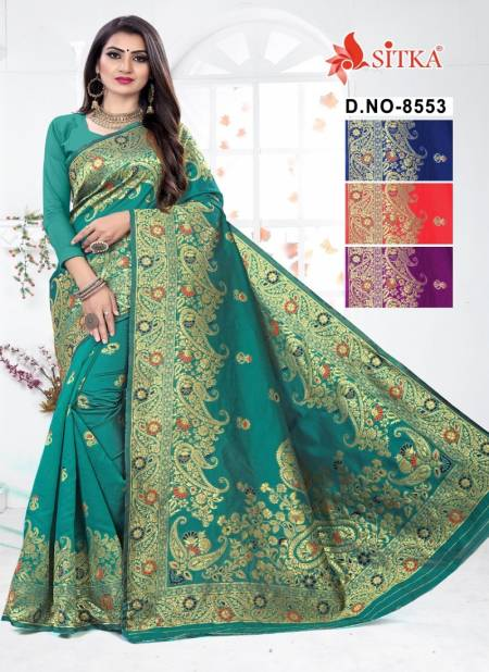 Sargam 8553 Latest Designer Wedding Wear Handloom cotton silk Saree Collection