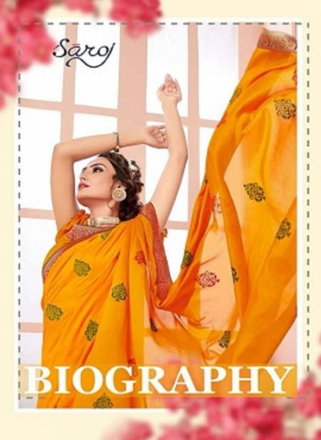 Saroj Biography Wedding Wear Latest Designer Silk Sarees Collection