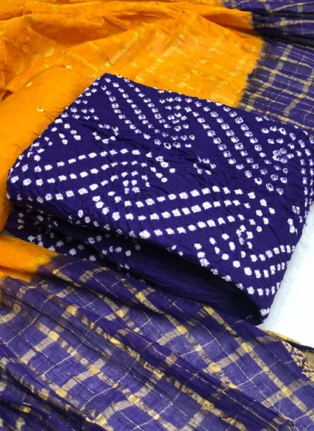 Satin Bandhej 2 Latest Fancy Designer Casual Wear Bandhani Heavy Jam Cotton Dress Material Collection