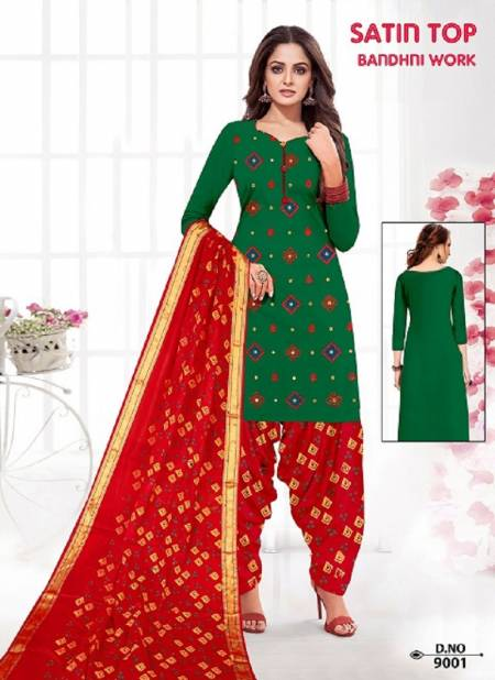 Satin Bandhej Work Latest Fancy Casual Regular Wear Printed Cotton Collection