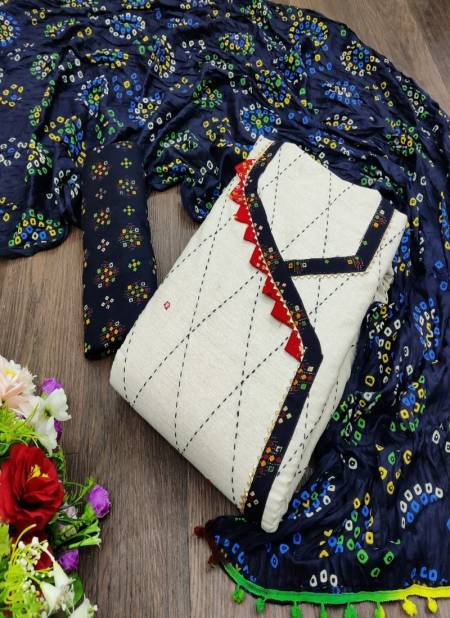 Sc 5045 Latest Designer Casual Wear Khadi Cotton Printed Dress Material Collection
