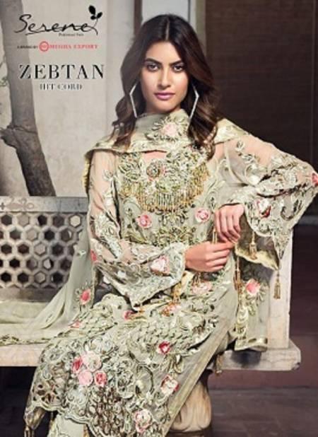 Serene Zebtan Hit Cord Latest Designer Festive Wear Fox Georgette Heavy embroidery semi stitched Pakistani Suits Collection