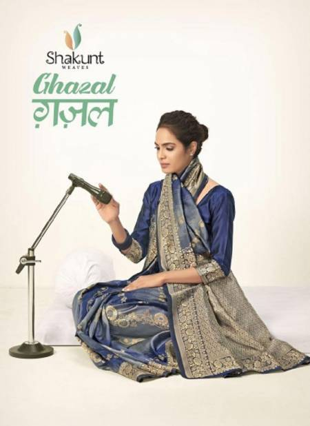 SHAKUNT GHAZAL Latest Fancy Designer Festive Wear Heavy Art Silk Saree Collection