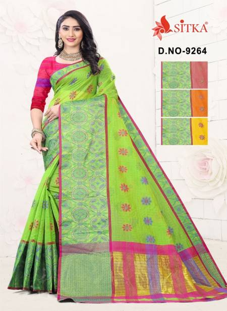 Sharp 9264 Latest Fancy Designer Casual Wear Handloom Cotton Printed Sarees Collection