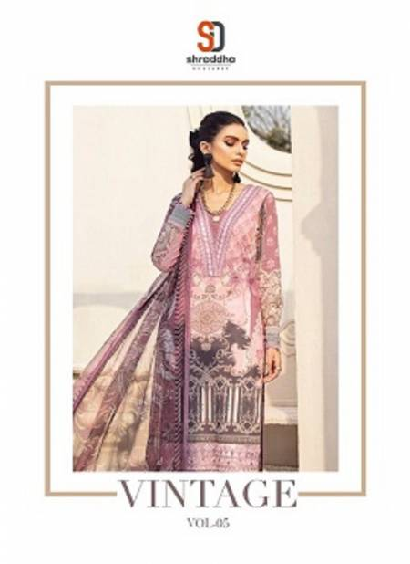 Shraddha Vintage 5 Latest Fancy Designer Casual Wear Printed Karachi Cotton Embroidery Work Dress Materials Collection