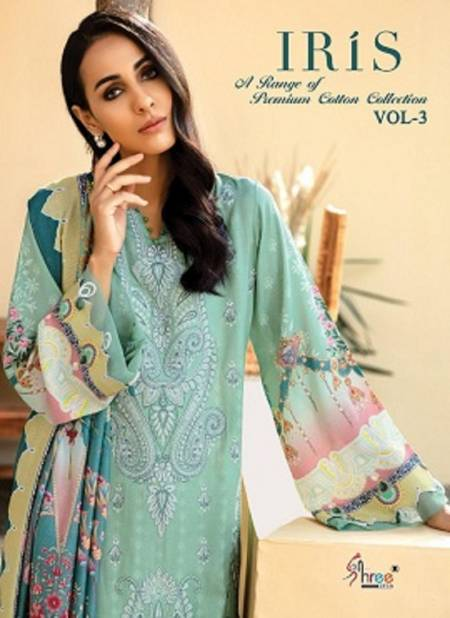 Shree Iris 3 Pure Jam Cotton print And embroidery Work  patch Top With Dupatta And Bottom Pakistani Salwar Suits Collection