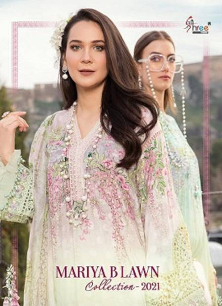 Shree Mariya B Latest Fancy Festive Wear Pure Lawn Print With Exclusive Embroidery Pakistani Salawar Suits Collection