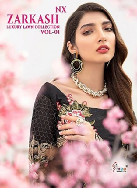 Shree Zarkash Luxury Lawn Collection 1 nx Latest Fancy Designer Casual Wear Pure Cotton Printed Pakistani Salwar Suits Collection